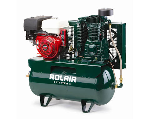 Truck mount series gas two stage air compressor rolair for Air compressor gas motor