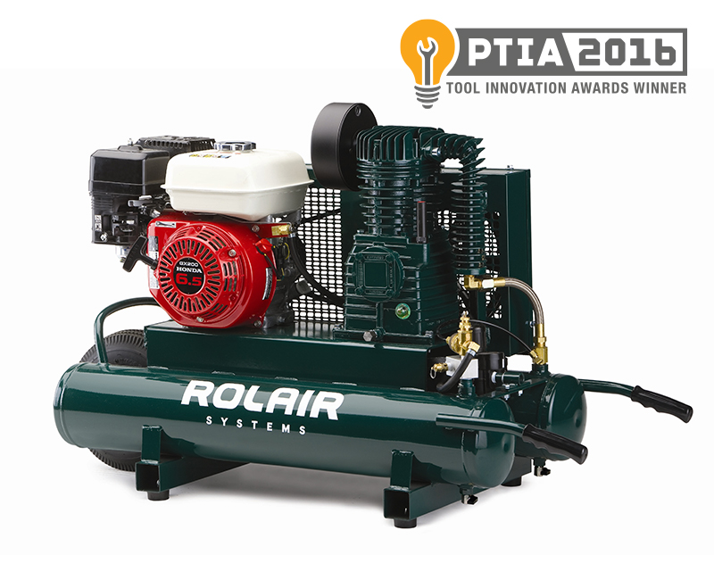 Rolair 6.5 HP  9 Gallon Gas Portable Air Compressor w/Honda Engine 6590HK18