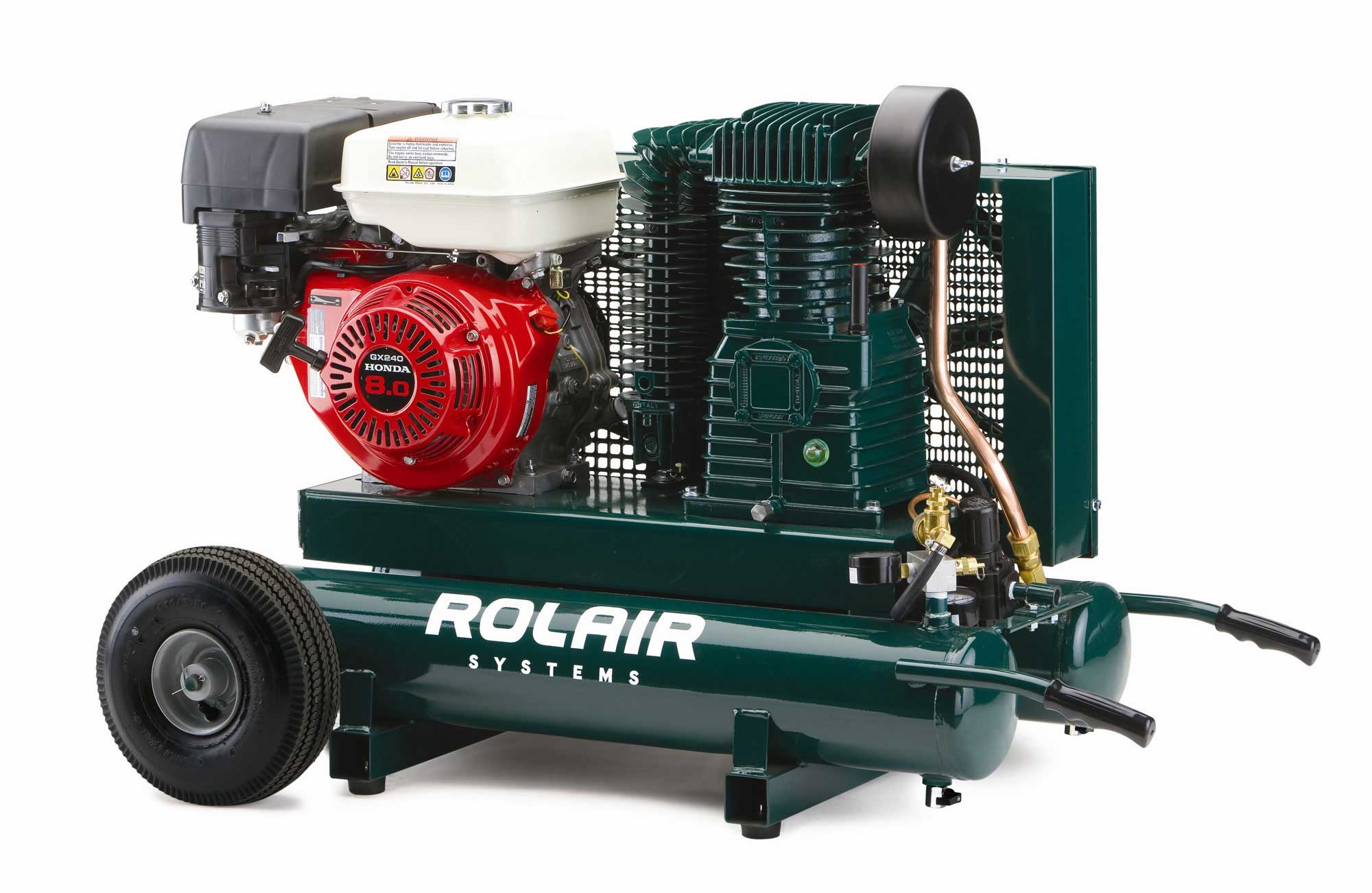 Rolair 9 HP 9 Gallon Gas Portable Air Compressor w/Honda Engine 7722HK28
