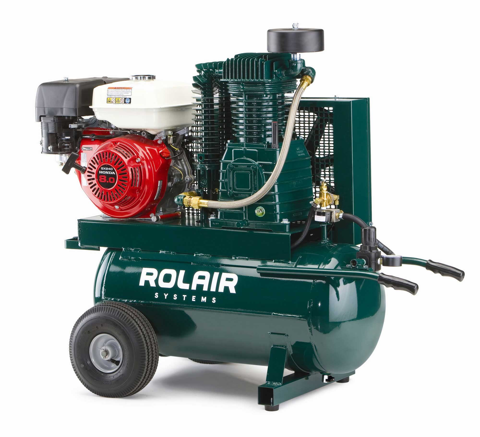 Rolair 9 HP 20 Gallon Gas Portable Air Compressor w/Honda Engine 8230HK30
