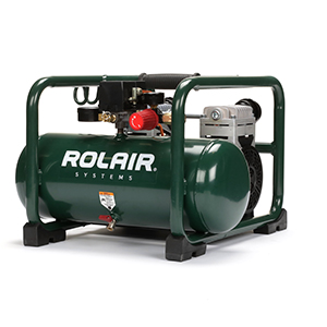 Rolair JC20 2 HP, 3 Gal Oil-Less Electric Air Compressor - Ultra Quiet